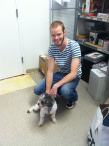 Collin came in on his day off to say goodbye...and brought Kobe!