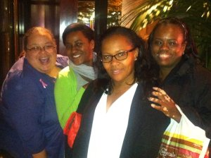 Dinner at The Cheesecake Factory with Alicia, Natasha and Maggie